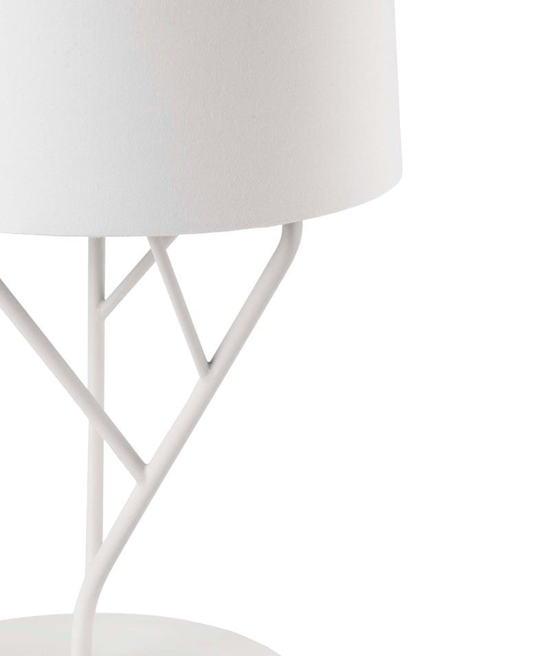 Lámpara de mesa blanca TREE detalle