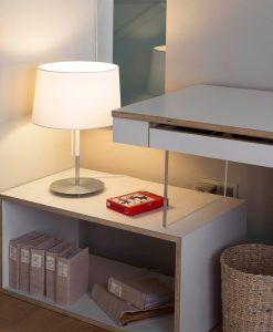 Lámpara de mesa blanca VOLTA ambiente