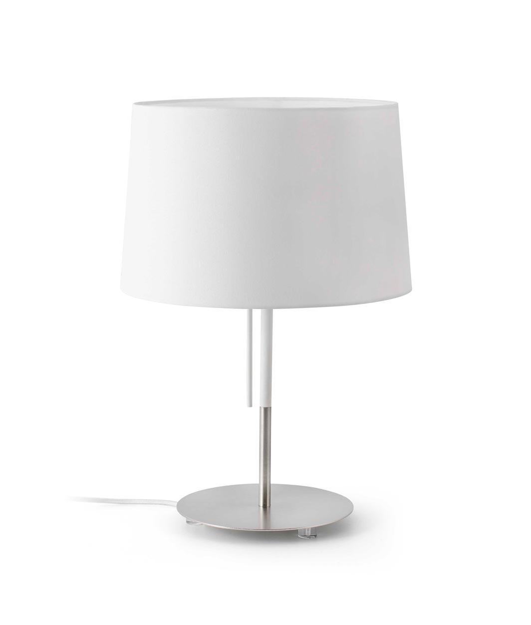 Lámpara de mesa blanca VOLTA