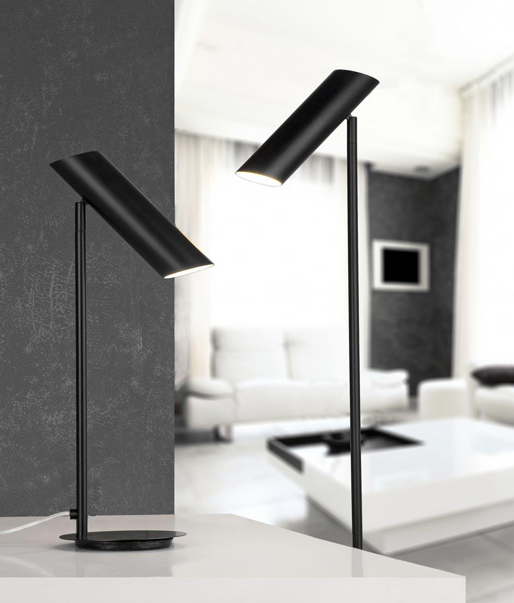 Lámpara de mesa negra LINK ambiente