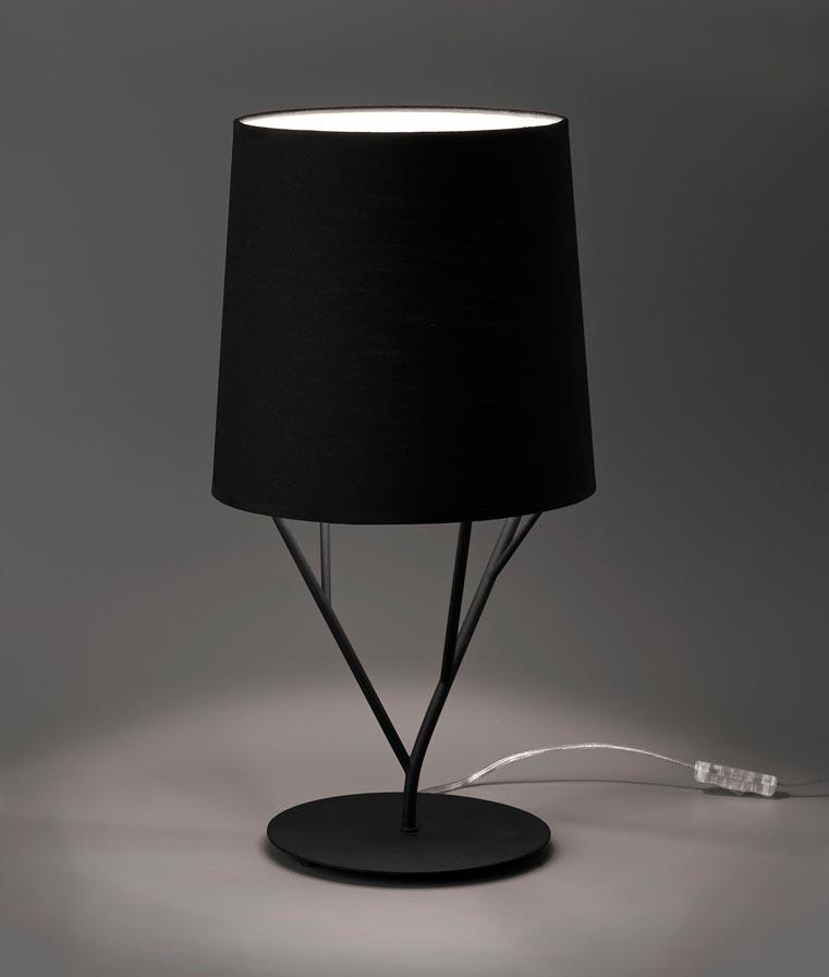 Lámpara de mesa negra TREE detalle