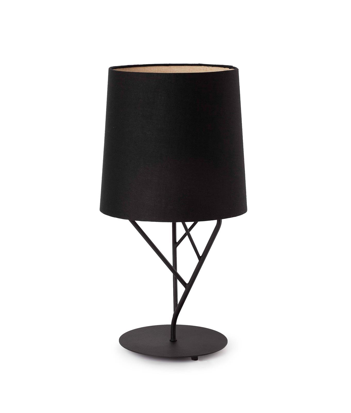 Lámpara de mesa negra TREE cambio posición