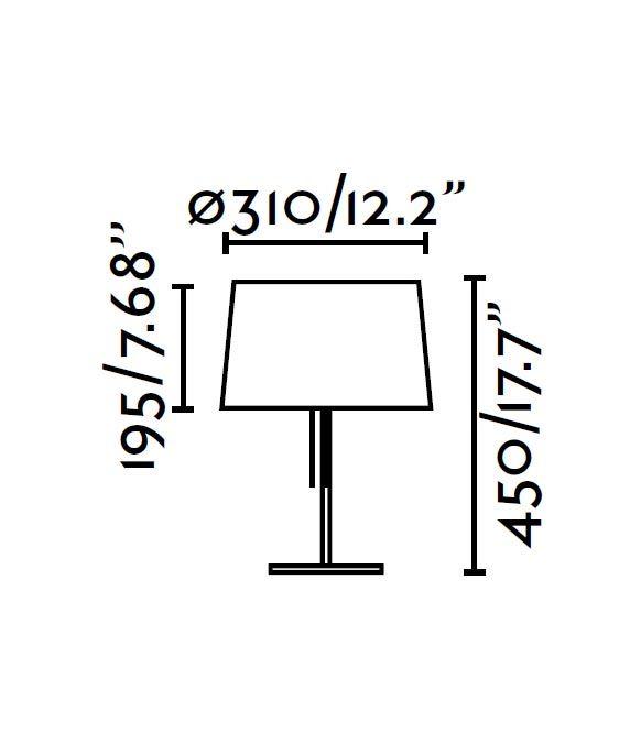 Lámpara de mesa negra VOLTA medidas