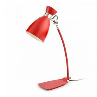 Lámpara de mesa roja RETRO