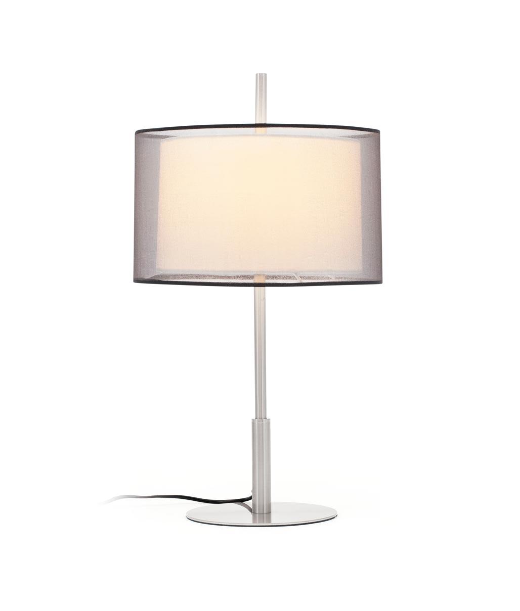 Lámpara de mesa SABA níquel mate 2