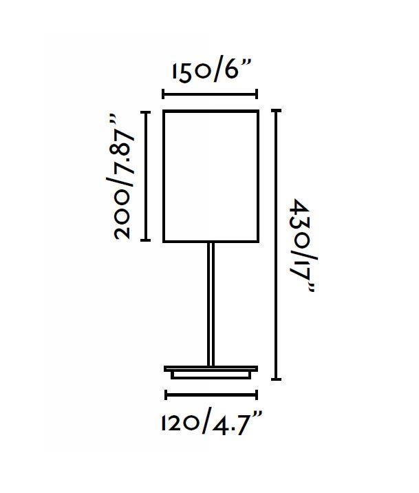 Lámpara de mesa THANA blanco medidas