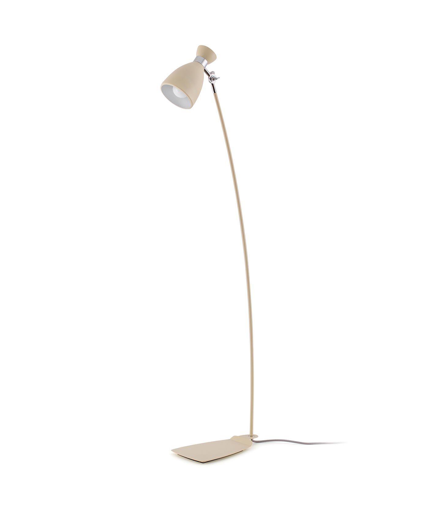 Lámpara de pie beige RETRO