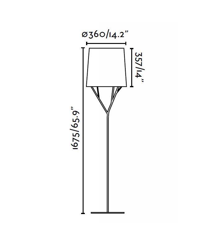 Lámpara de pie blanca TREE medidas