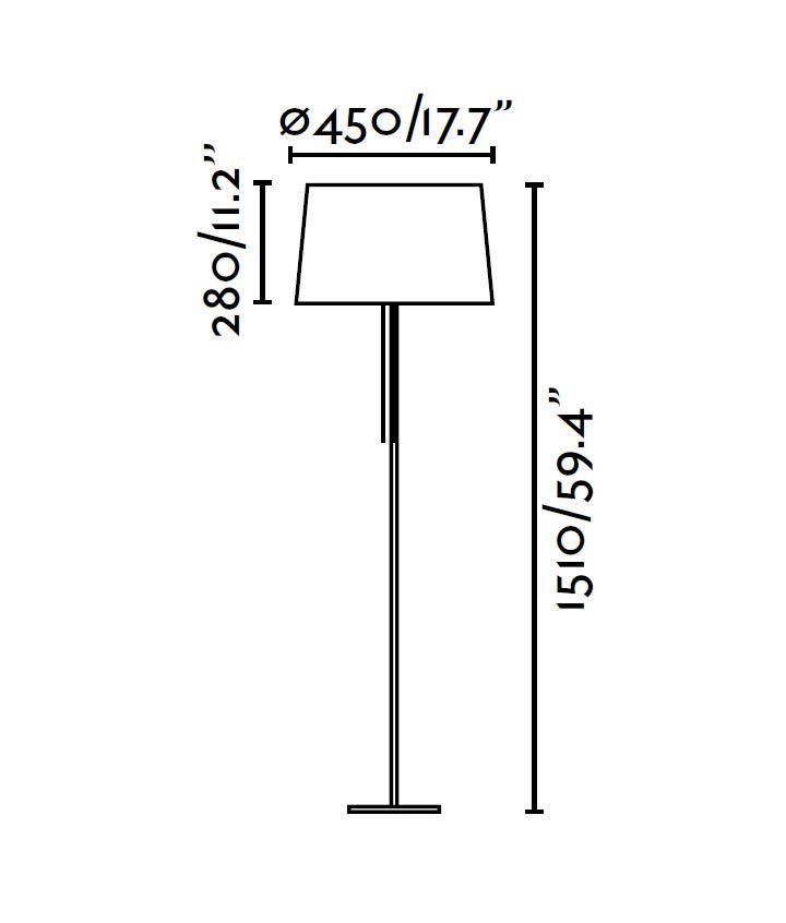 Lámpara de pie blanca VOLTA medidas