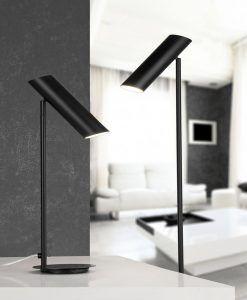 Lámpara de pie negra LINK ambiente