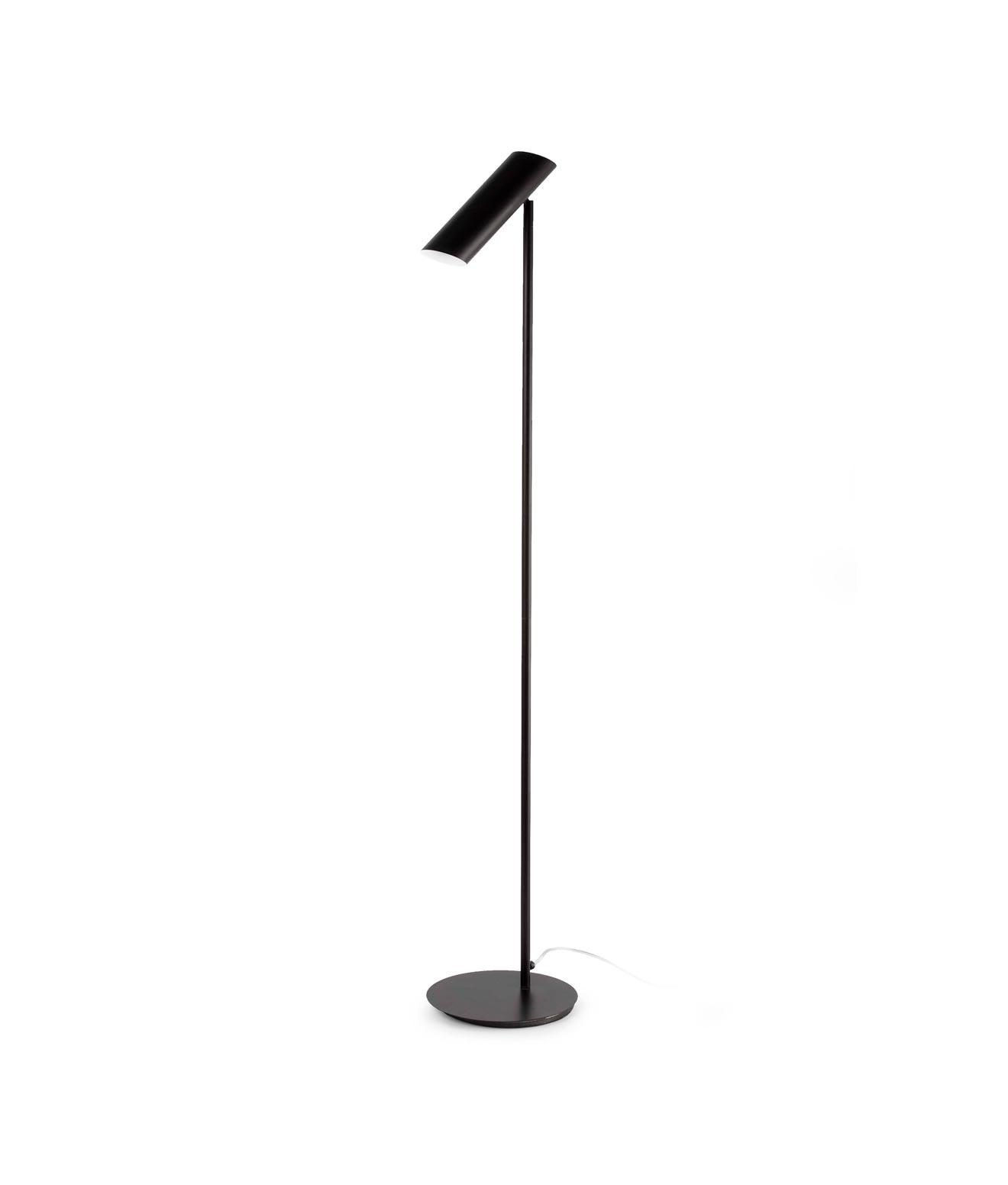 Lámpara de pie negra LINK