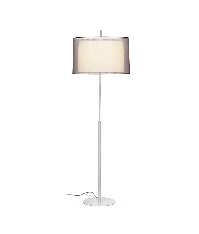 Lámpara de pie níquel mate SABA