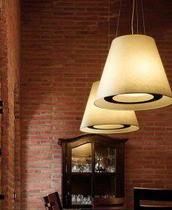 Lámpara de techo beige PÉRGAMO ambiente