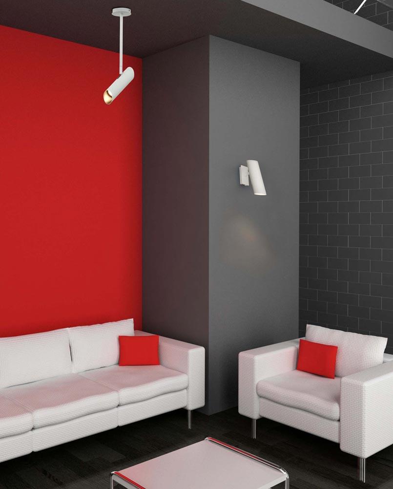 Lámpara de techo blanca 1 luz LINK ambiente