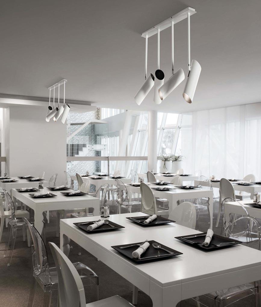 Lámpara de techo blanca 4 luces LINK ambiente