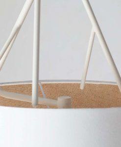 Lámpara de techo blanca TREE detalle 3