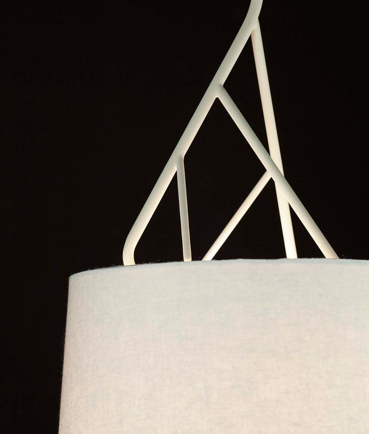 Lámpara de techo blanca TREE detalle 2