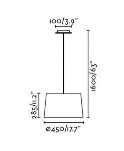 Lámpara de techo blanca VOLTA medidas