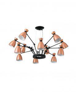 Lámpara de techo cobre 12 luces RETRO 2