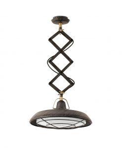 Lámpara de techo extensible LED marrón PLEC