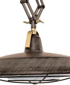 Lámpara de techo extensible LED marrón PLEC detalle 2