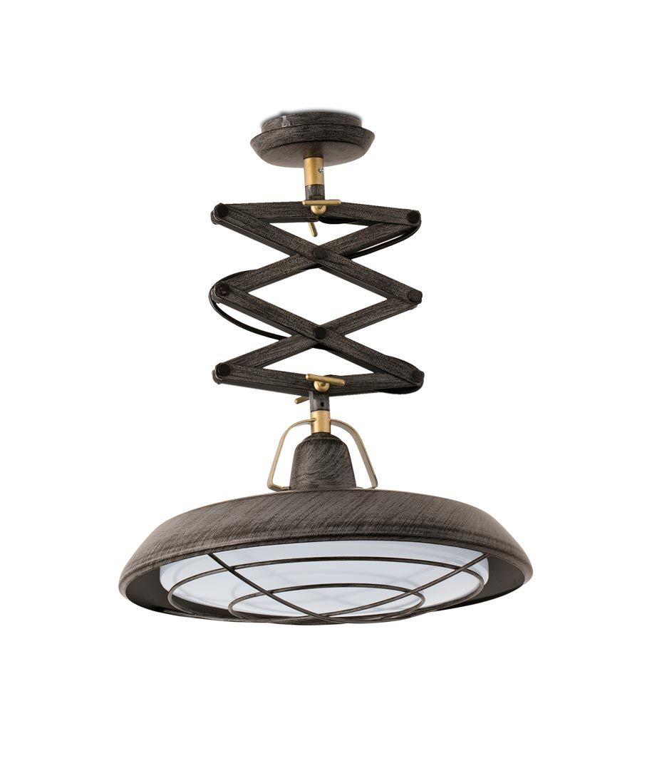 Lámpara de techo extensible LED marrón PLEC detalle