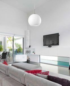 Lámpara de techo grande MALI blanco 186 cm ambiente