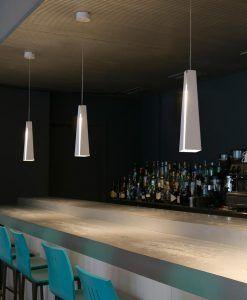 Lámpara de techo LED blanca PLUMA ambiente