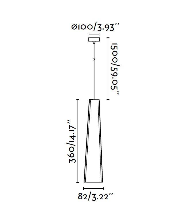 Lámpara de techo LED blanca PLUMA medidas
