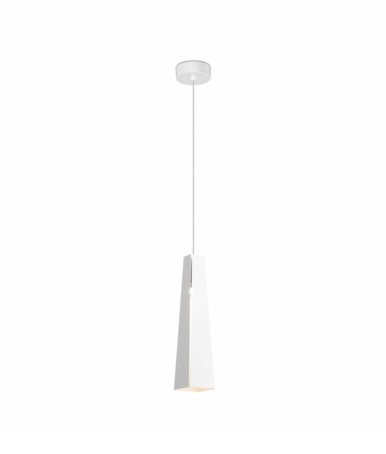 Lámpara de techo LED blanca PLUMA