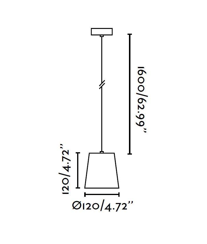 Lámpara de techo LED MIA blanca medidas