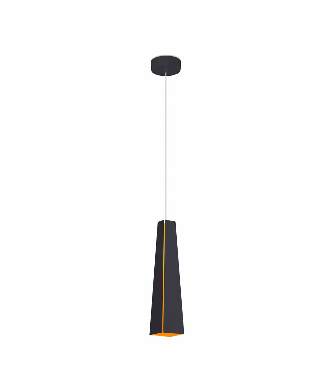 Lámpara de techo LED negra y oro PLUMA