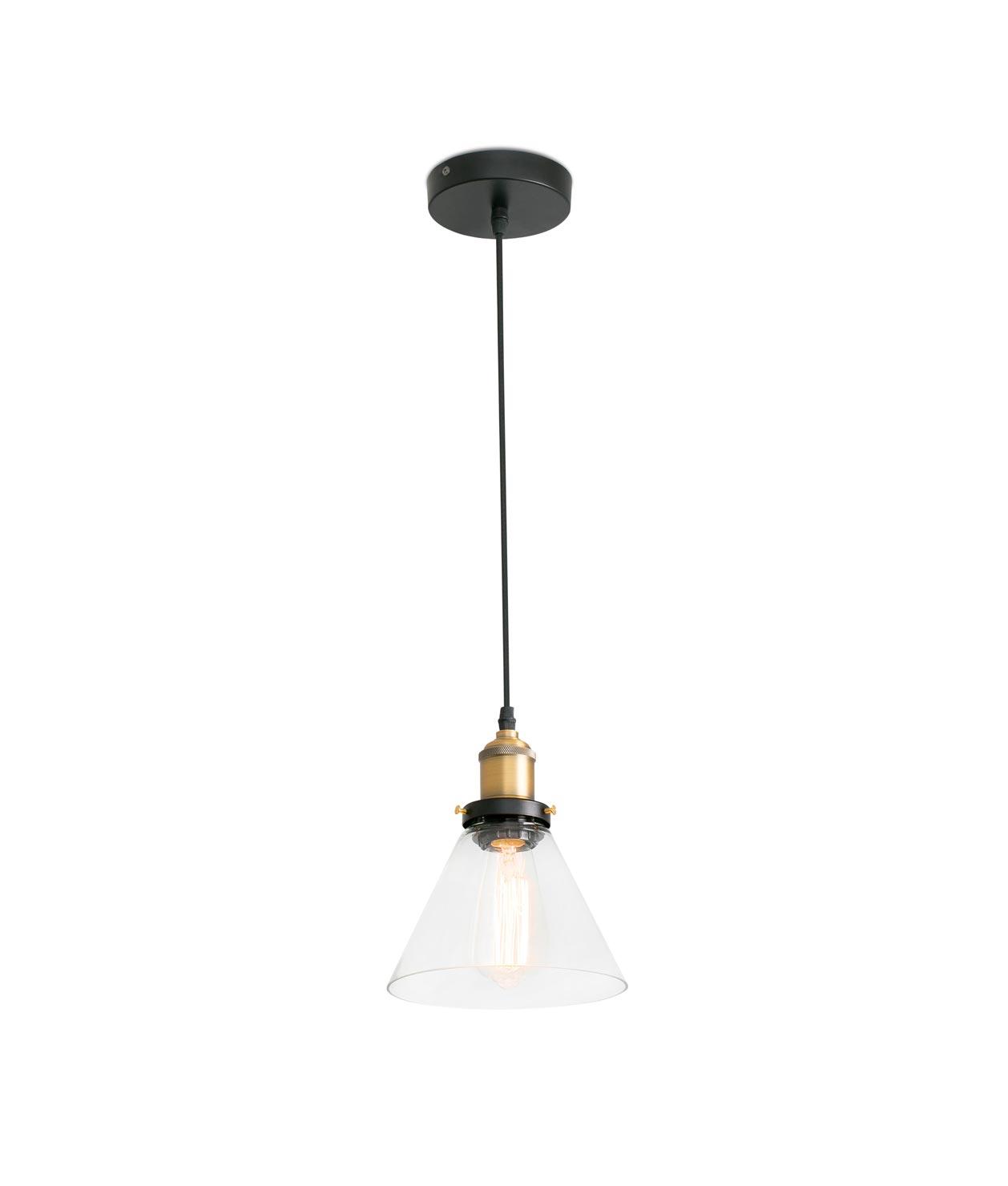 Lámpara de techo LIZ transparente