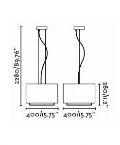 Lámpara de techo marrón VESPER medidas