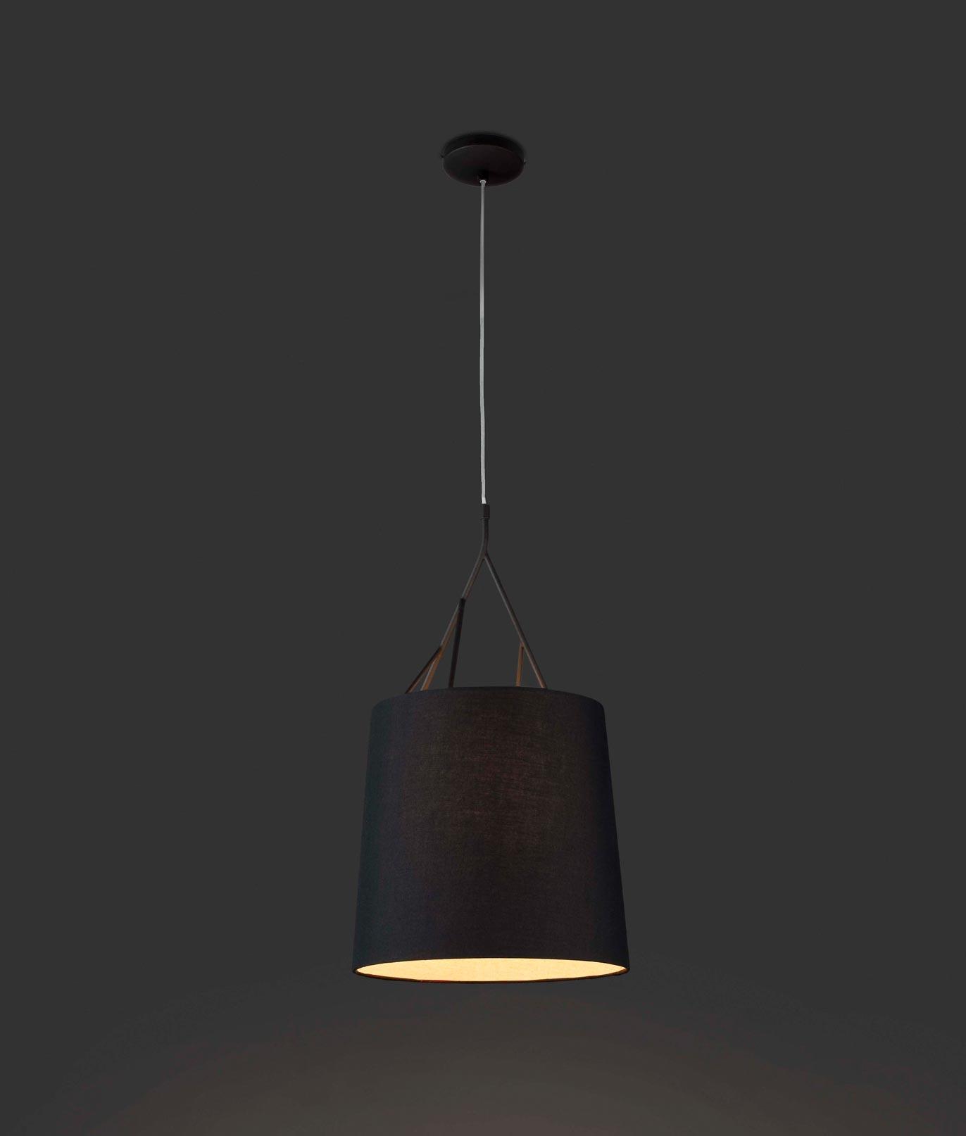Lámpara de techo negra TREE detalle