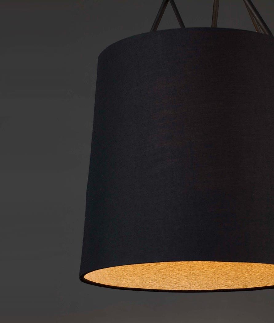 Lámpara de techo negra TREE detalle 2