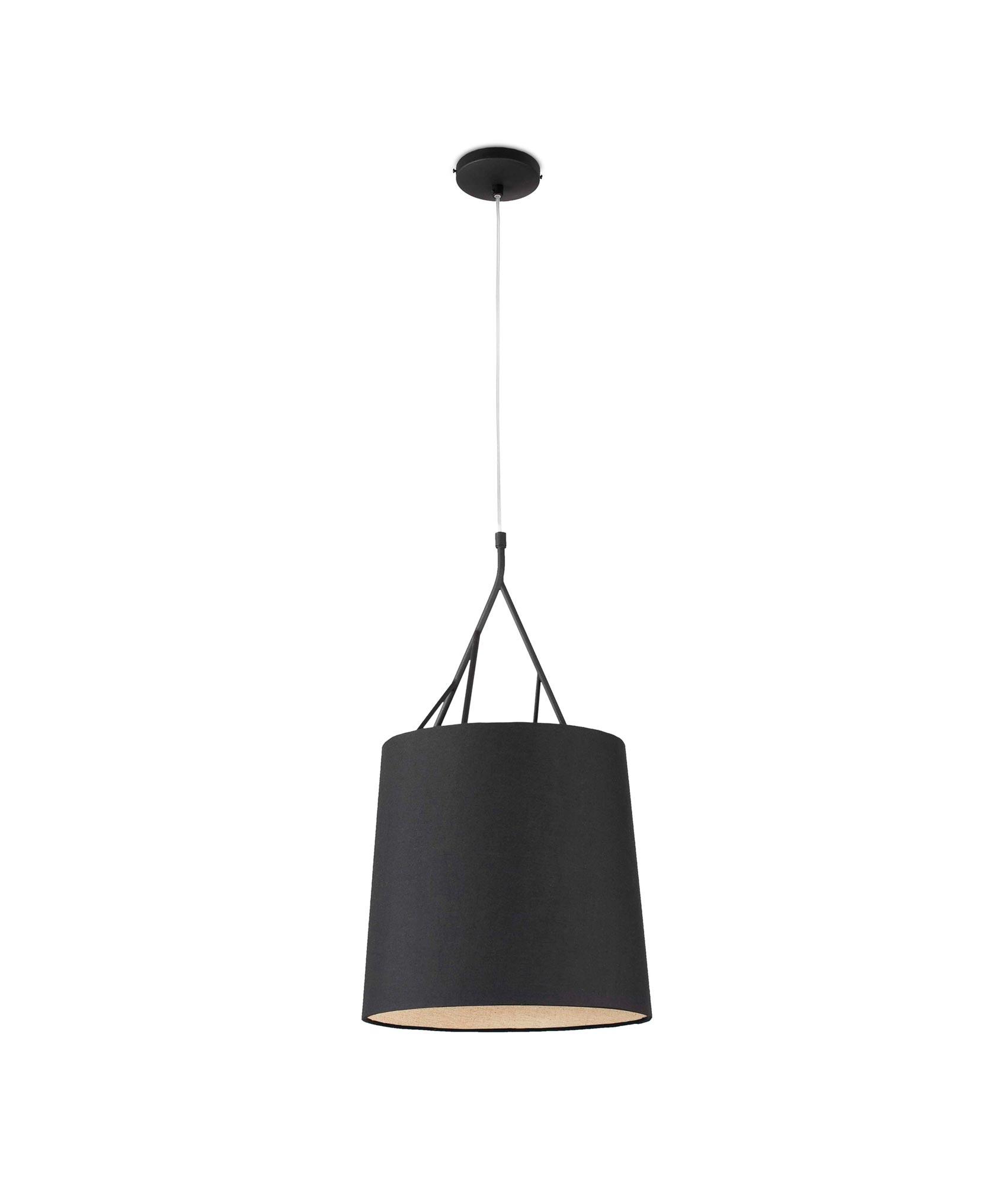 Lámpara de techo negra TREE