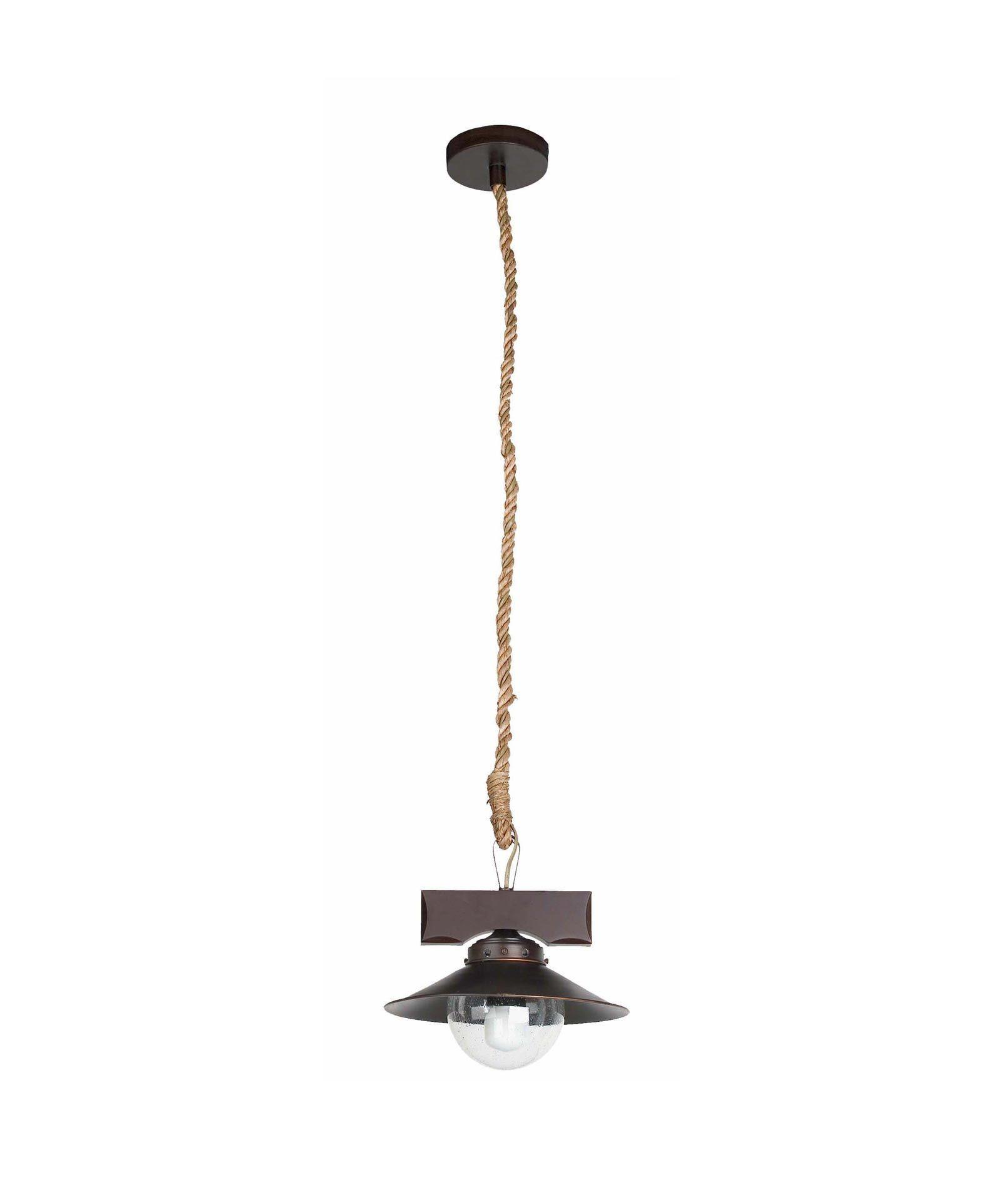 Lámpara de techo NUDOS marrón óxido