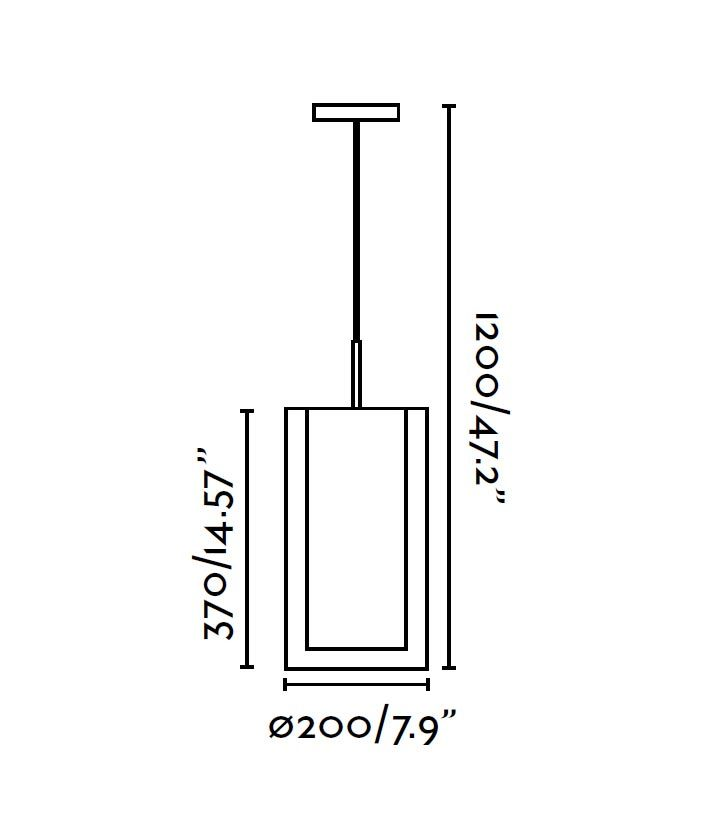 Lámpara de techo SABA níquel mate medidas