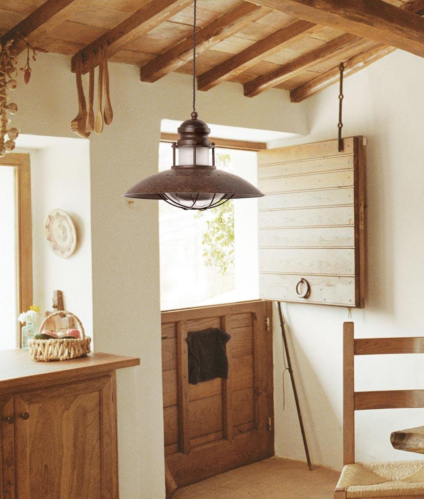 Lámpara de techo WINCH marrón ambiente