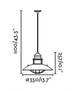 Lámpara de techo WINCH marrón medidas