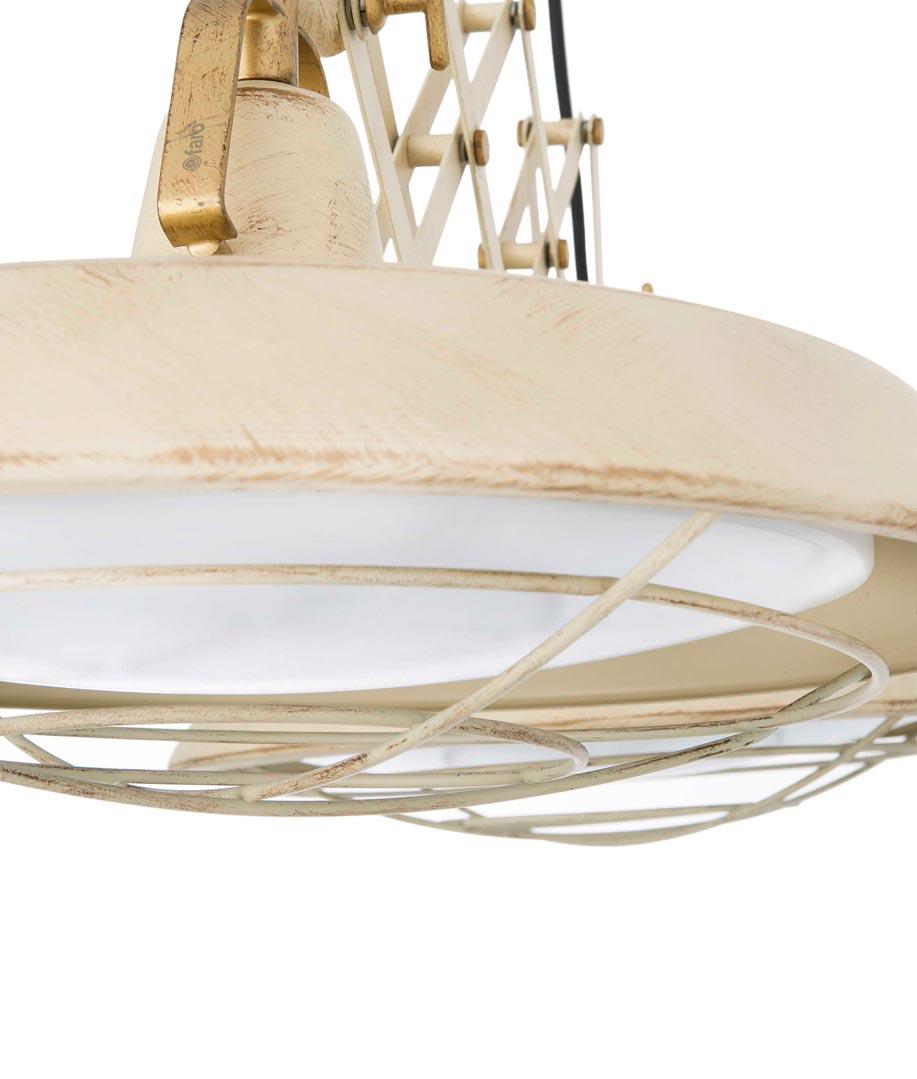 Lámpara extensible LED blanco PLEC 2 luces detalle