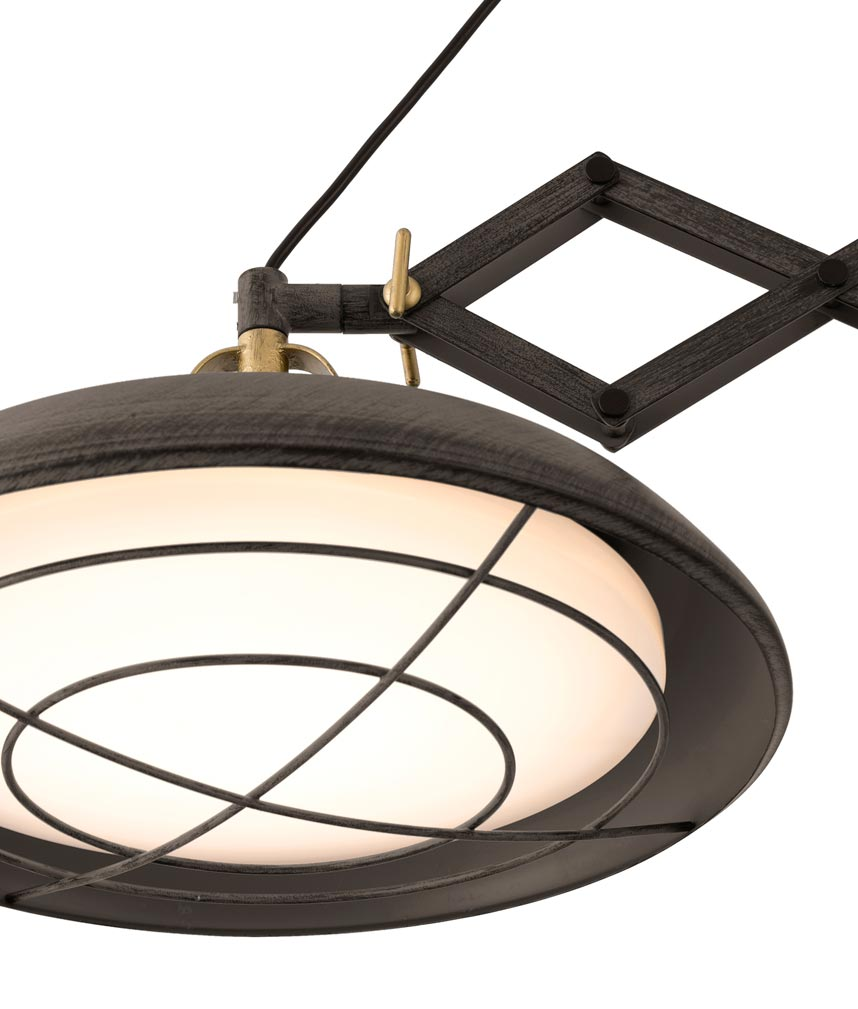 Lámpara extensible LED marrón PLEC 2 luces detalle