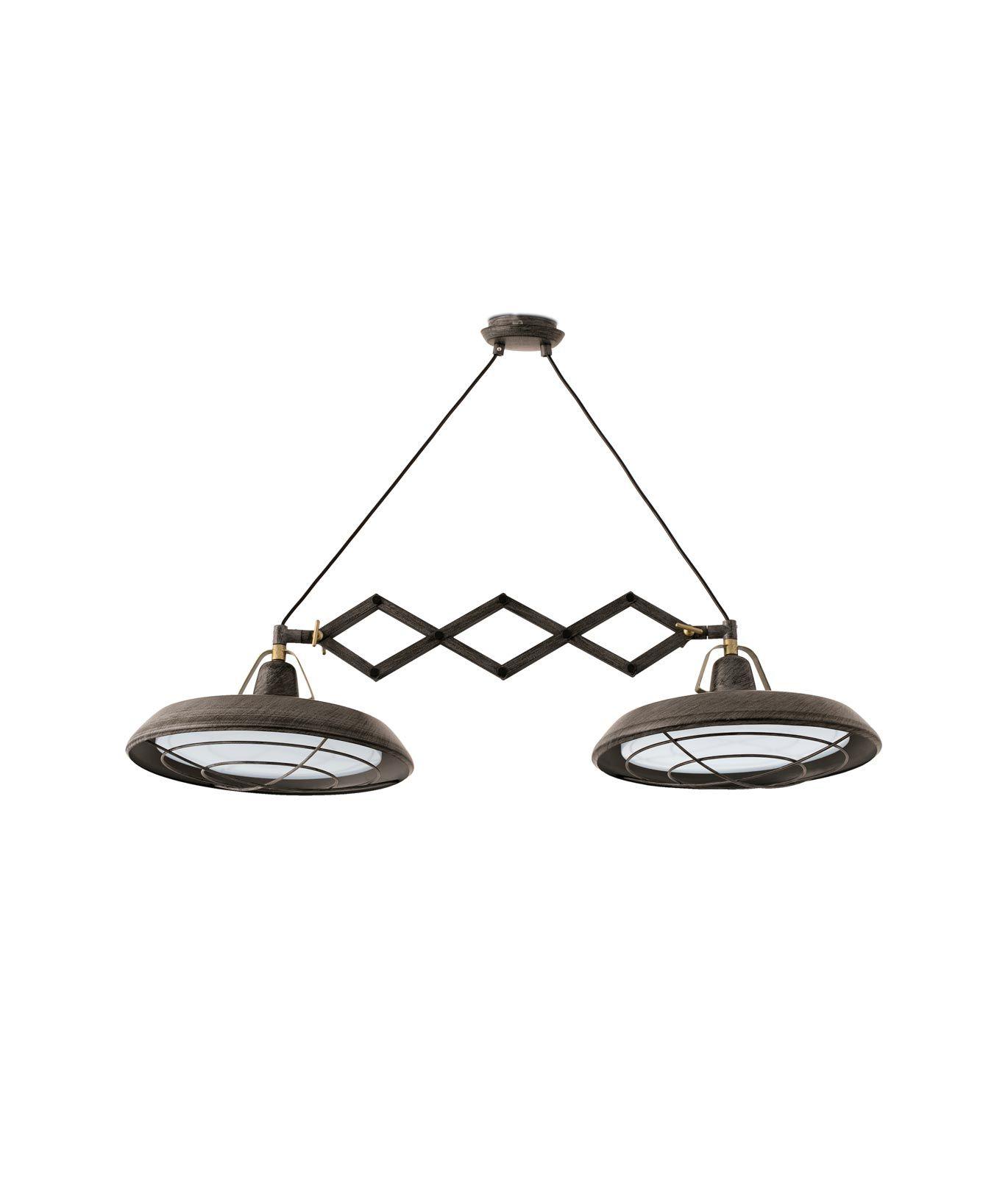 Lámpara extensible LED marrón PLEC 2 luces detalle 2