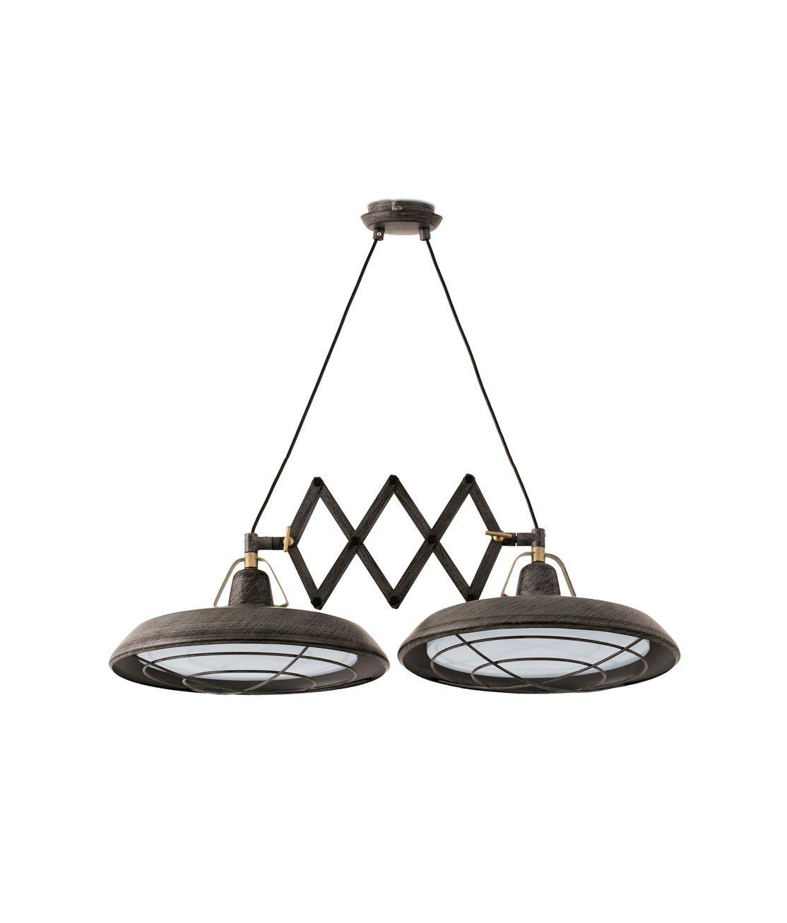 Lámpara extensible LED marrón PLEC 2 luces