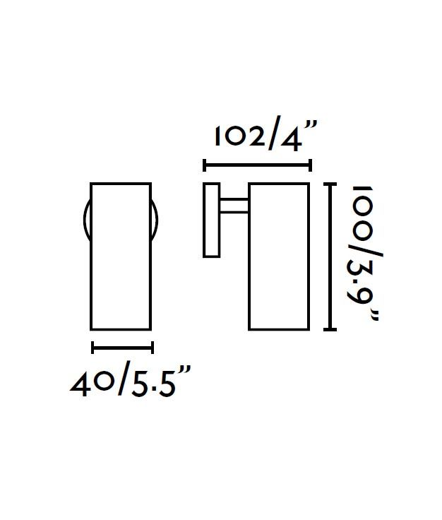Lámpara foco LED blanco ORA medidas