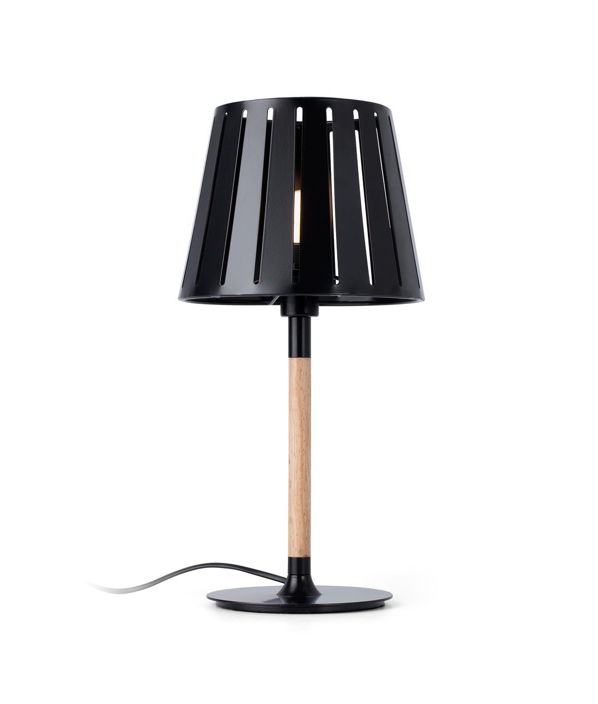 Lámpara sobremesa negra MIX