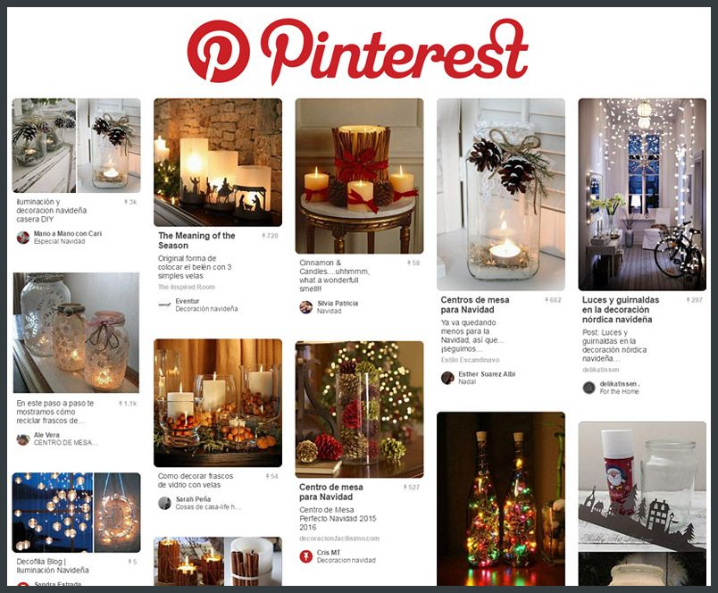 Iluminación de navidad Pinterest