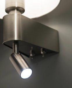 Aplique blanco con lector LED ROOM detalle