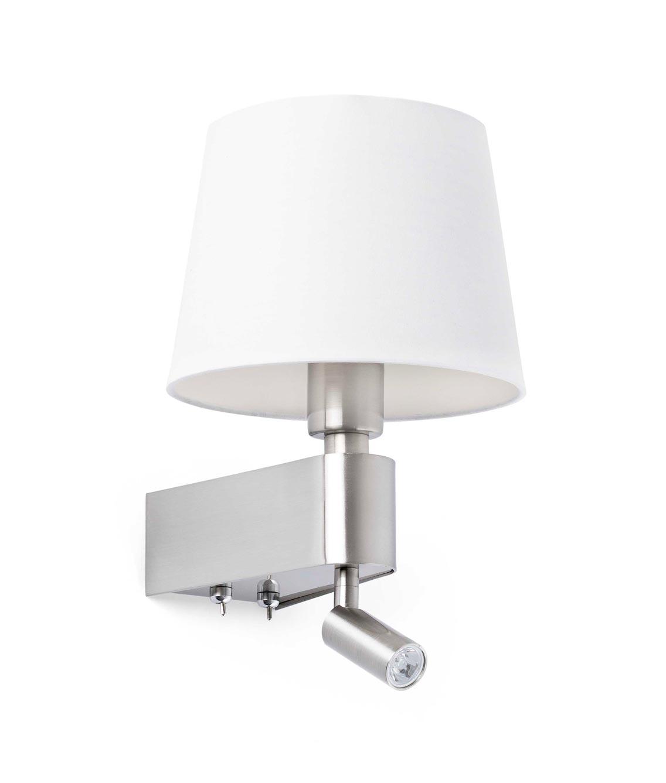 Aplique blanco con lector LED ROOM